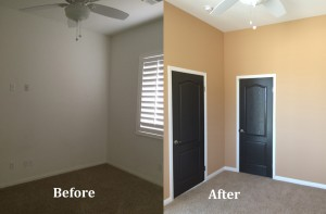 Interior Painting Before and After