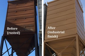 water tower painting before and after